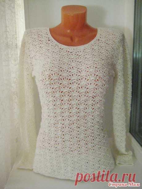 Пуловеры крючком 202