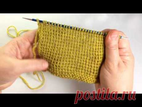 Тунисская наклонная петля / Вязание спицами / Sloping Tunisian Stitch - YouTube