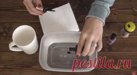 Делаем оригинальные чашки с помощью воды и лаков для ногтей / X-Style