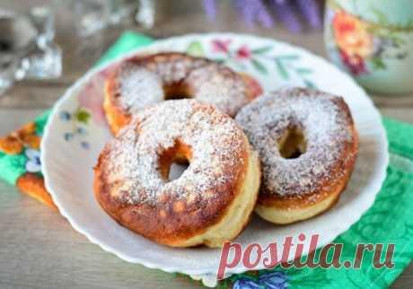 Домашние пышные пончики