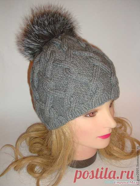Шапочка спицами. Вязание спицами шапок. Описание вязания шапки спицами с аранами.