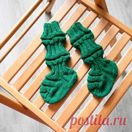 Детские финские носочки спицами. Описание |