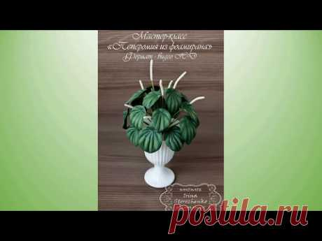 MK a peperomia from a foamiran