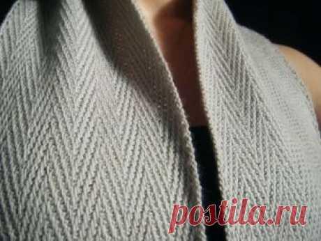 Мужской шарф Генри со схемой и подробным описанием