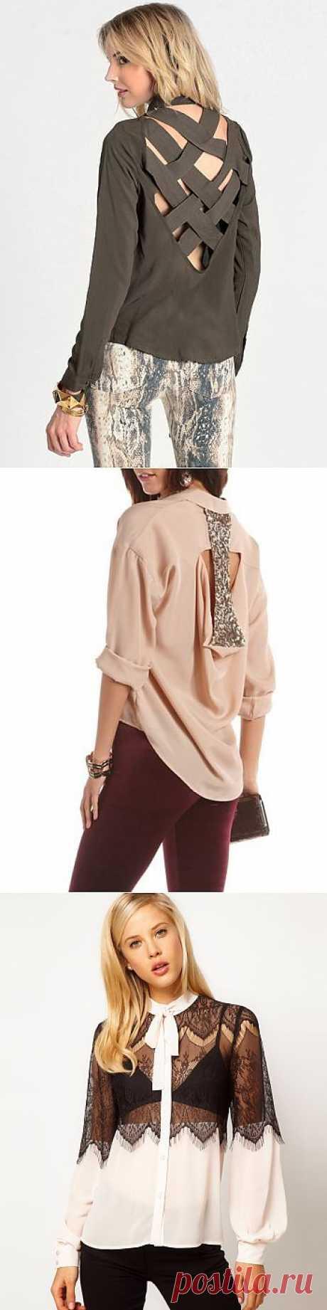 Подборка идей для переделки блузки (трафик) / Блузки / Модный сайт о стильной переделке одежды и интерьера