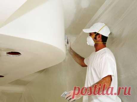 Как правильно шпаклевать потолок.  LiveInternet