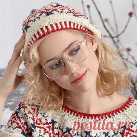 Берет жаккардовым узором спицами – 9 моделей вязания со схемами и описанием, видео МК — Пошивчик одежды