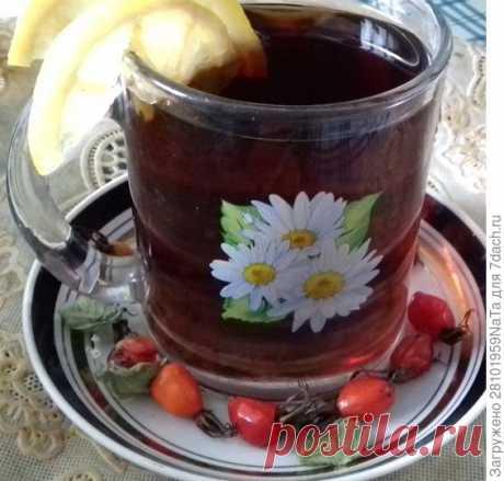 Чай с шиповником и травами - пошаговый рецепт приготовления с фото