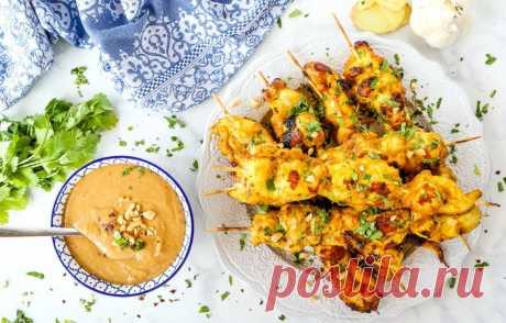 Сатай из курицы с ореховым соусом - кулинарный пошаговый рецепт с фото • INMYROOM FOOD