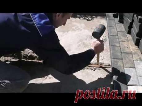 Укладка брусчатки, тротуарной плитки. Способ, который используют профессионалы.