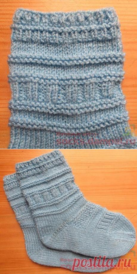 Children's socks in the English style (the description + video)