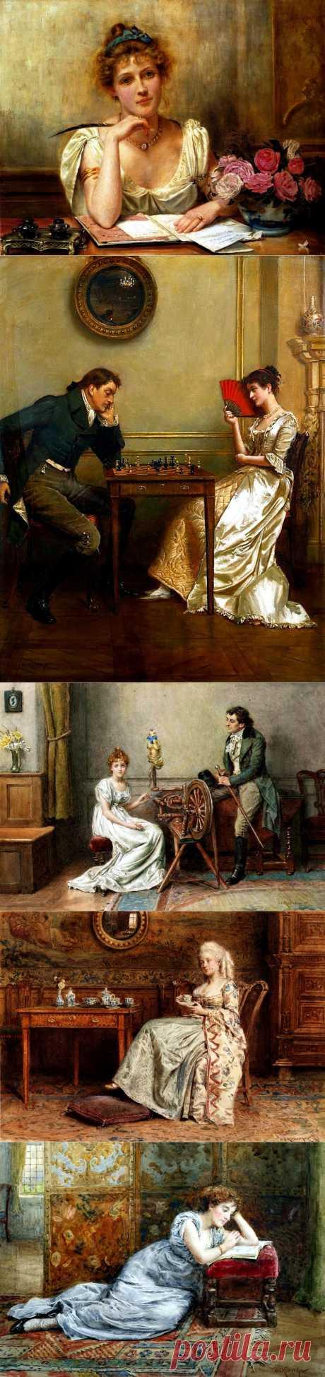 Английский живописец George Goodwin Kilburne (1839-1924)