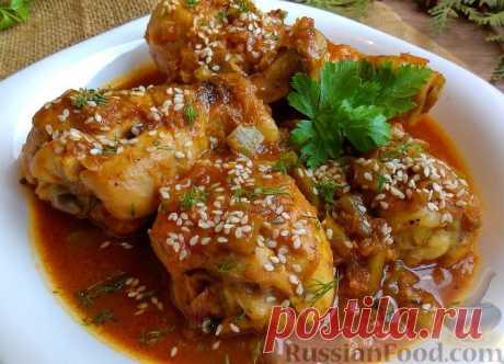 Курица тушеная — еда простая и всегда вкусная
