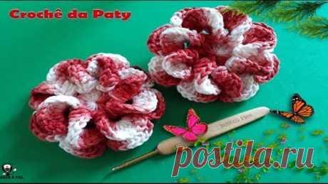 Flor de Crochê Caracol