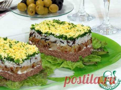Салат с рисом и куриной печенью - кулинарный рецепт