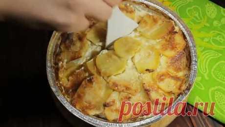 Вкусная картошка слоями с мясом