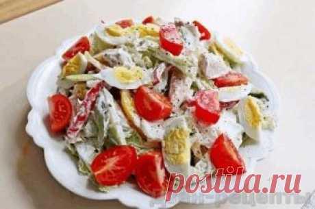 Овощной сытный салат с колбасками и куриным филе и рецепт его приготовления   Дзен-рецепты   Яндекс Дзен