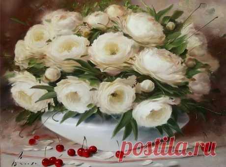 Красивые картины цветов Олега Буйко