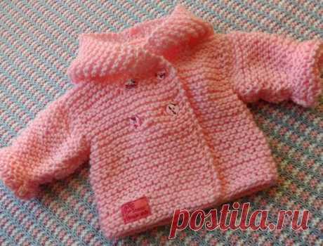 Кофточка спицами для новорожденного 🥝 как связать красивые кофты регланом малышу на 3 месяца, как вязать для младенцев свитер и жакет, вязание для начинающих, схемы