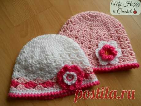 My Hobby Is Crochet: Spring Lacy Hat - Free Pattern with Tutorial and Chart