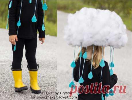 Сделайте быстрый и легкий КОСТЮМ ОБЛАКА Дождя ... для всех возрастов! | Сделай это и люби это