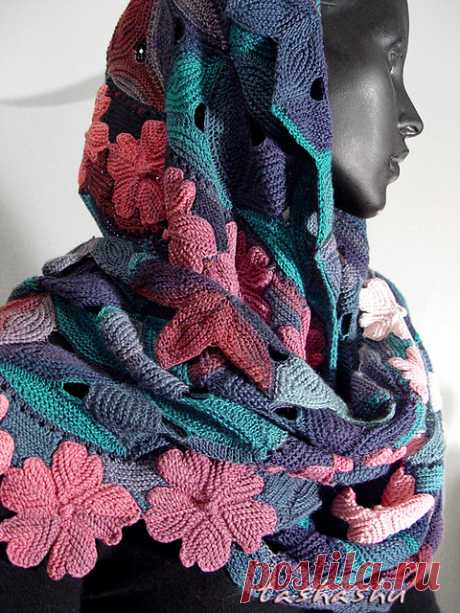 The picturesque palatines connected by modular knitting — Needlework