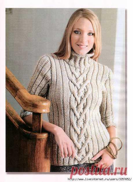 Пуловер с рукавами 3/4..