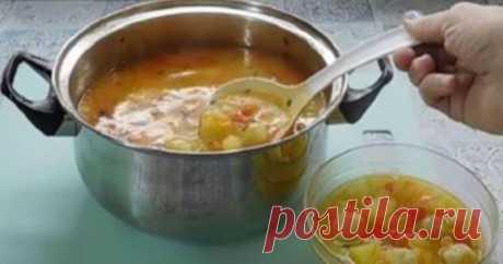 Самый вкусный суп с сырными шариками