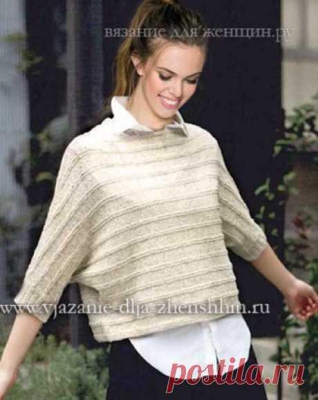 Модные вязаные пуловеры для женщин - 7 моделей со схемами вязания на спицах