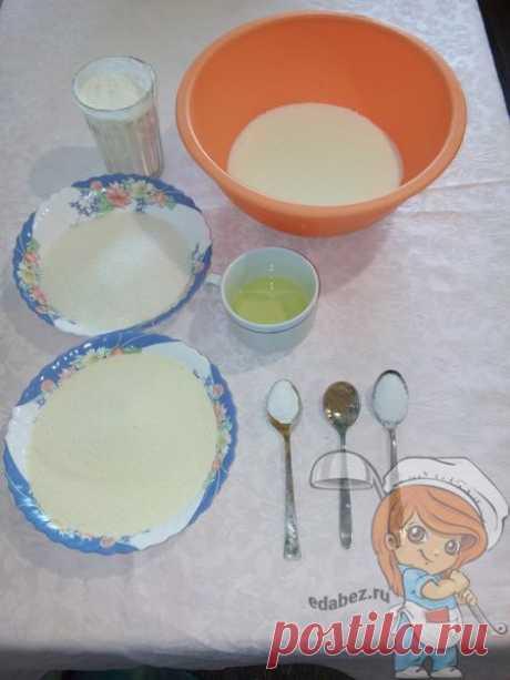 Легкий рецепт манника на кефире без яиц
