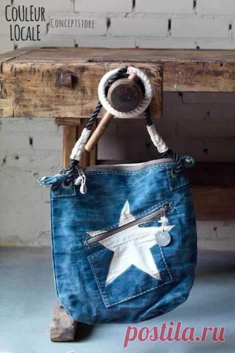 Сшить сумку из старых джинсов — выкройки и мастер-классы для вас!