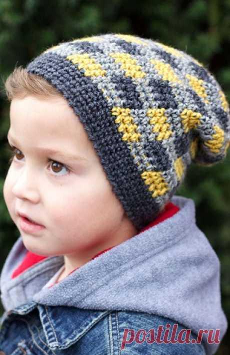 Детская шапка крючком