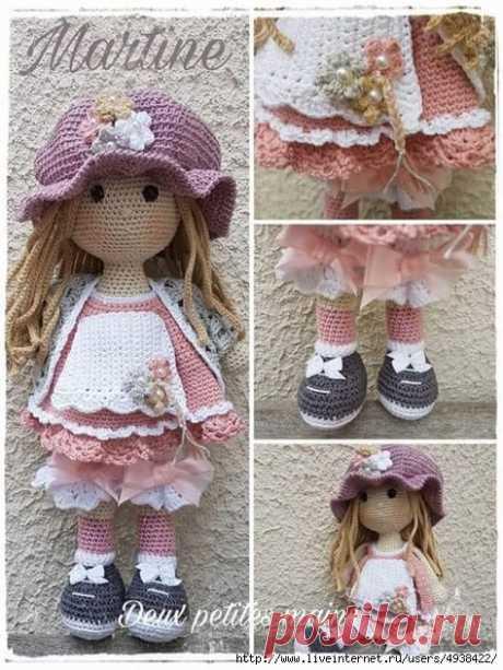 La muñeca encantadora Martina. La descripción del trabajo