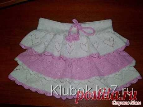 Вязаная юбочка для девочки (Вязание спицами) | Журнал Вдохновение Рукодельницы