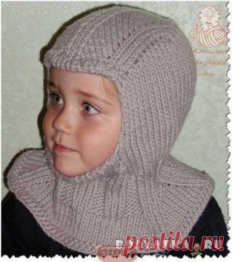 Шапочки-шлемы с манишкой. Подборка (Вязание спицами) – Журнал Вдохновение Рукодельницы