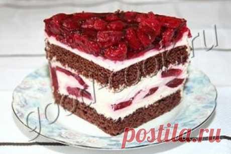 """торт """"Вишнёвый сюрприз"""", рецепт приготовления"""