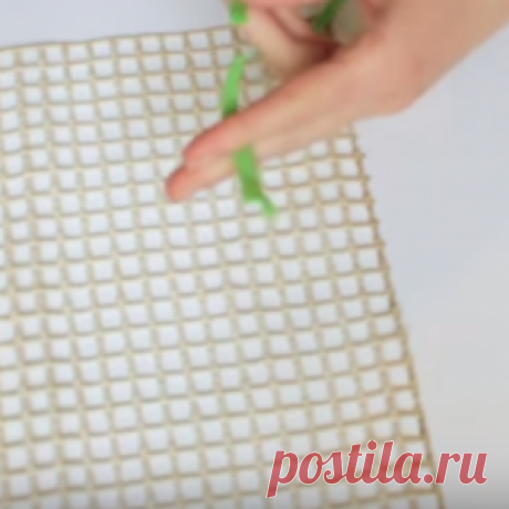 How to make a charming rug from matter scrap