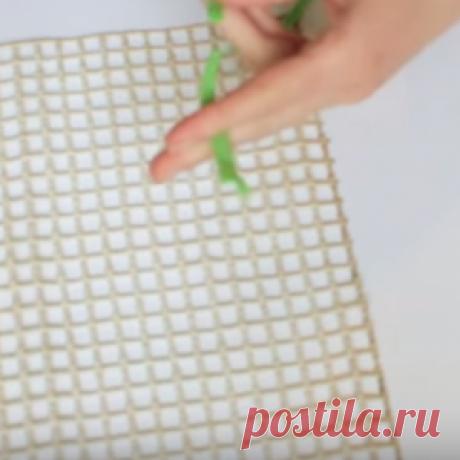 Как сделать очаровательный коврик из обрывком материи