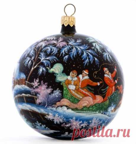 Красивые новогодние шары|Ручная роспись новогодних шаров