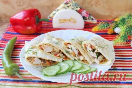Мексиканская лепешка с курицей - пошаговый рецепт с фото на Повар.ру