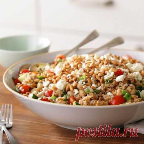 👌 Восточный салат с булгуром и нутом - настоящее украшение праздничного стола, рецепты с фото Если вы хотите удивить гостей необычным и вкусным салатом, тогда этот рецепт можете взять себе на заметку