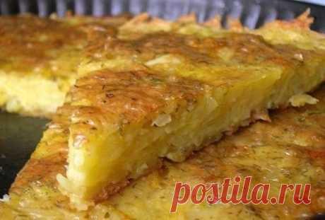 Запеканка из тертого картофеля с сыром и чесноком / Путешествие с комфортом