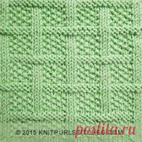 Square Lattice   Knit - Purl stitches