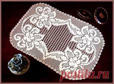 Прямоугольная салфетка / Вязание крючком