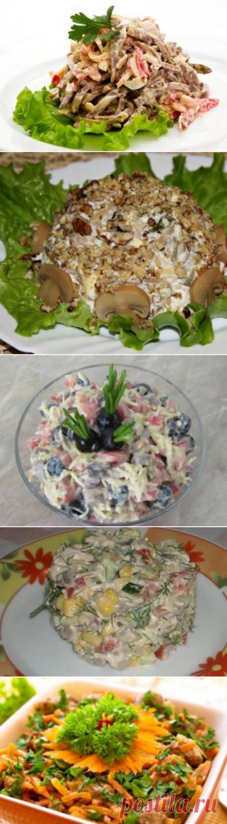 Салат из языка — деликатес для праздничного застолья