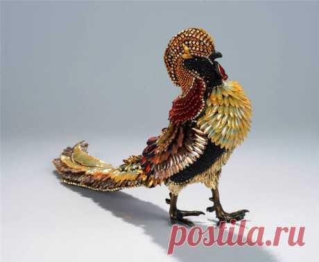 Декорированные бисером фигурки птиц от Nancy Josephson
