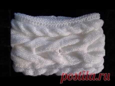 Как связать шарф-снуд спицами. Двойной вязаный шарф-снуд спицами