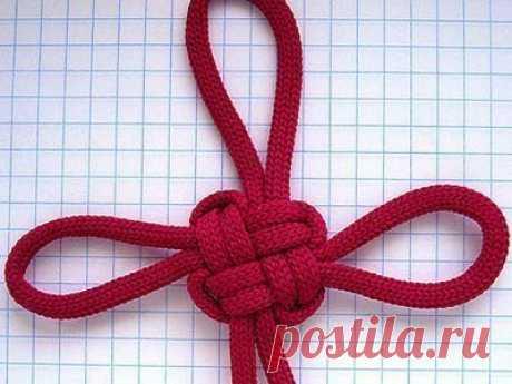 Красивый узел из одной нити — Сделай сам, идеи для творчества - DIY Ideas