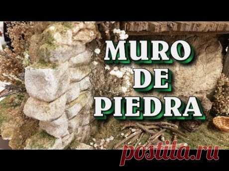 HACER MURO DE PIEDRA PARA EL PESEBRE, NACIMIENTO ,BELÉN