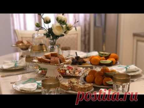 ПРАЗДНИЧНЫЙ СТОЛ НА 6 ЧЕЛОВЕК 😋, вкусные рецепты , сервировка стола 😍